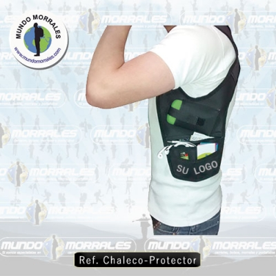 Protective vest of personal items.